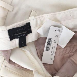 J.Crew Maddie pants size 0 white